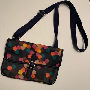 Fossil crossbody pvc coated multi color purse